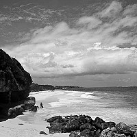 nearcranebeach - Another beach near Crane, beach. This beach is situated on the Atlantic Ocean side of this sun kissed, Caribbean Island.  -  print for sale