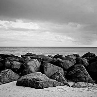 rocks - Rocks at Needham Point.  -  print for sale