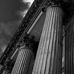 black and white blenheimcolumns photography