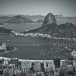 black and white botafogo photography