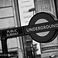 theundergound - London, 2007 -  print for sale