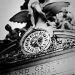 black and white centralclock photography