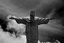 christsstatue black and white photography for sale