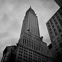 chryslerfrombelow - black and white photography for sale