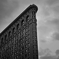 cornerofflatiron - black and white photography for sale