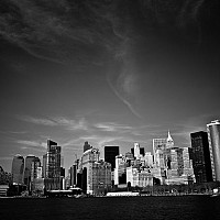 lowermanhattan - black and white photography for sale