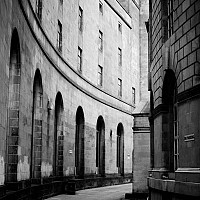 curvedpassage - Between the Central Library and the main Town Hall, this passageway makes for an interesting perspective.