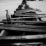 black and white jetty photography