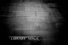 librarywalk black and white photography for sale