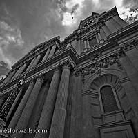 stpaulsfront - black and white photography for sale