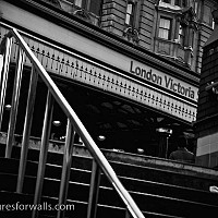 victoriastation - black and white photography for sale