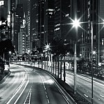 black and white nighttraffic photography