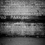 black and white noparking photography