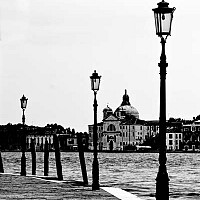 onthewater - On the Water Front, Venice, Italy. 2007. Venice is the kind of city you can walk around forever. This may seem ironic given the amount of water but the narrow canal paths throw up all manner of fascinating little squares and vistas.  -  photograph for sale