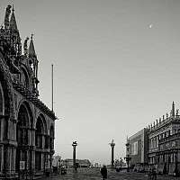 outtothewater - From St Marks square looking out, early morning,  Venice, Italy. I was up at 5 am to get out and shoot Venice before the tourists arrived.  -  photograph for sale