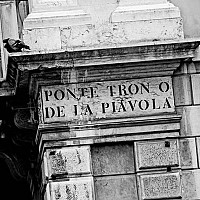 pontetron - Street Detail, Venice, Italy. This photograph shows the detail of one of Venice's many squares. This photo was taken in 2008. -  photograph for sale