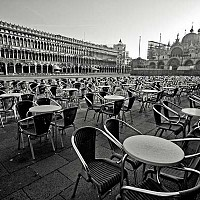 readyfortheday - St Marks Square, Early Morning, Venice, Italy. I was up early to shoot this. St Marks really was perfect that morning. It was early spring, a little chilly and I was quite tired rising but for about 45 minutes I felt like I had Venice to myself -  photograph for sale