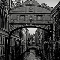 sighsbridge - The Bridge of Sighs, Venice, Italy. This is another of Venice's most recognisable features. It links the Doge's Palace to the old prisons. This photo was taken in 2008. -  photograph for sale