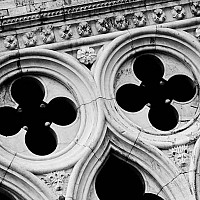 veneziadetail - Doge's Palace, Venice, Italy. This photograph reveals the beautiful architectural stonework on the Doge's Palace in St Mark's Square, Venice, Italy.  -  photograph for sale