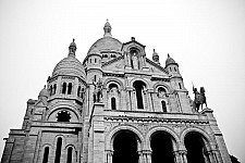 sacrecoeur black and white photography for sale
