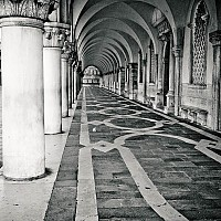 stmarksarches - Doge's Palace, St Mark's Square, Venice, Italy.