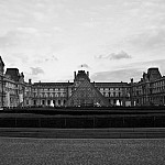 black and white thelouvre photography