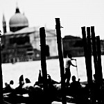 black and white venicewaterways photography